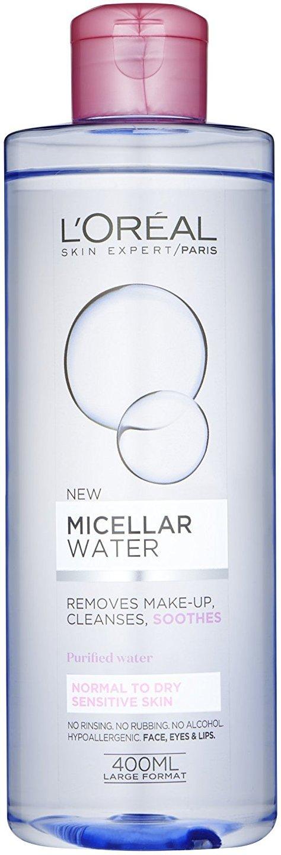 Fotografie L'Oréal Paris Micellar Water micelární voda pro normální až suchou citlivou pleť 400 ml