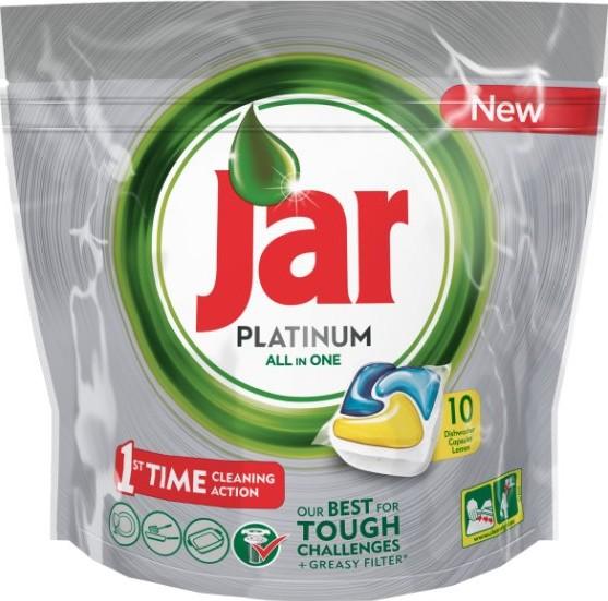 Jar Platinum All in One Lemon Kapsle do myčky nádobí 10 kusů