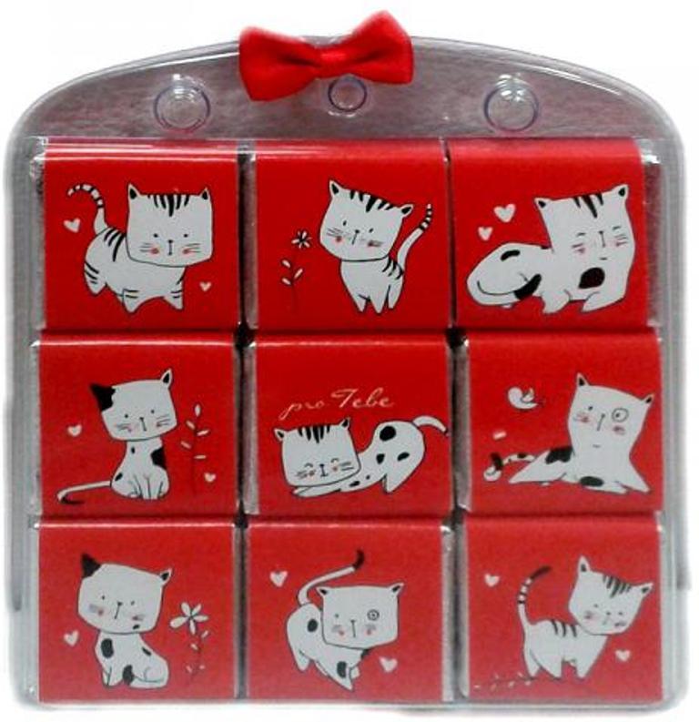 Nekupto Čokoládové puzzle Pro Tebe Kočka 9 x 5 g WQ 001