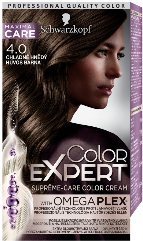 Fotografie Schwarzkopf Color Expert barva na vlasy 4.0 Chladně hnědý