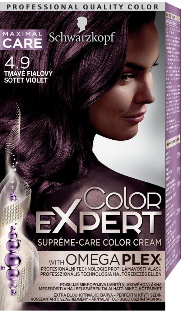 Fotografie Schwarzkopf Color Expert barva na vlasy 4.9 Tmavě fialový