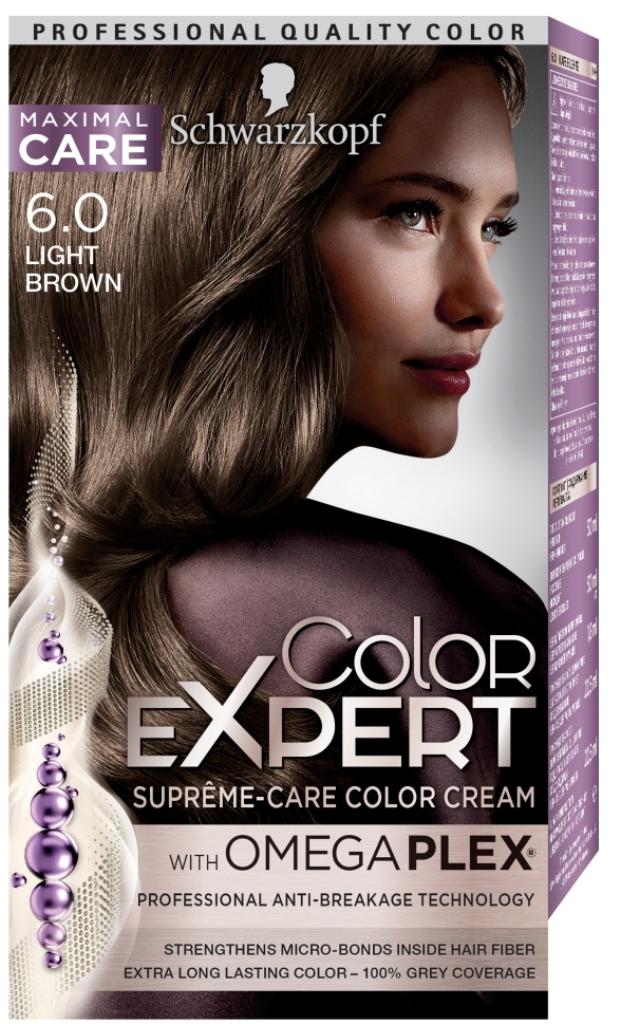 Fotografie Schwarzkopf Color Expert barva na vlasy 6.0 Světle hnědý