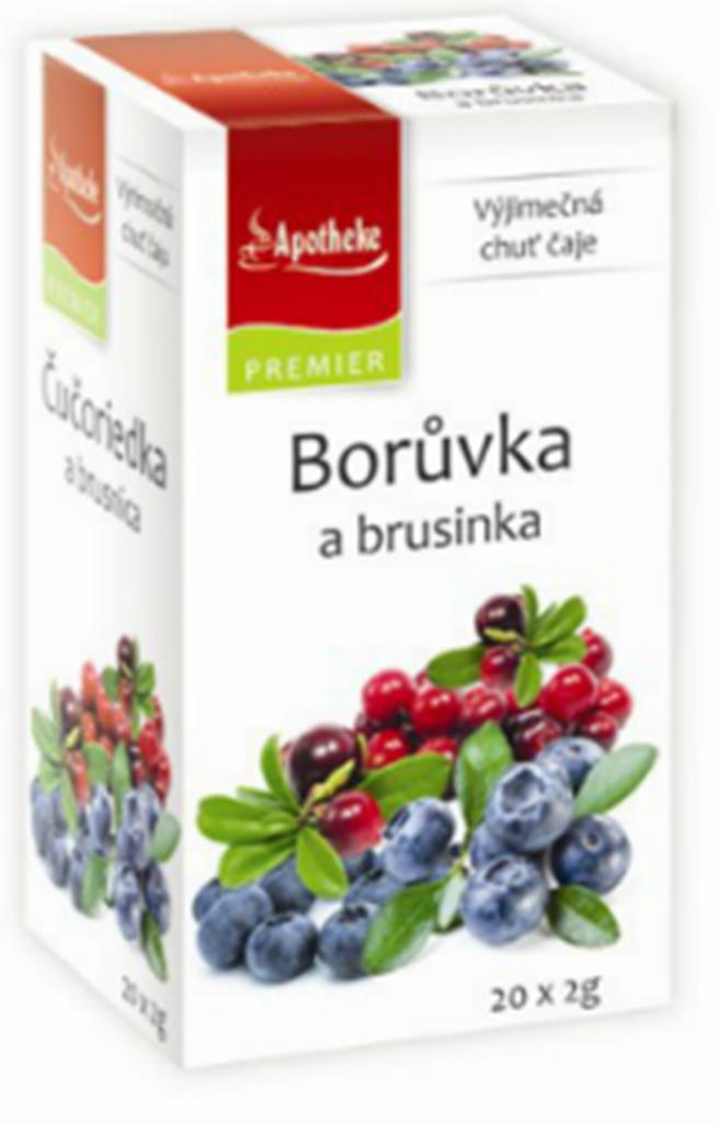 Fotografie Apotheke Borůvka a brusinka ovocný čaj 20 x 2 g