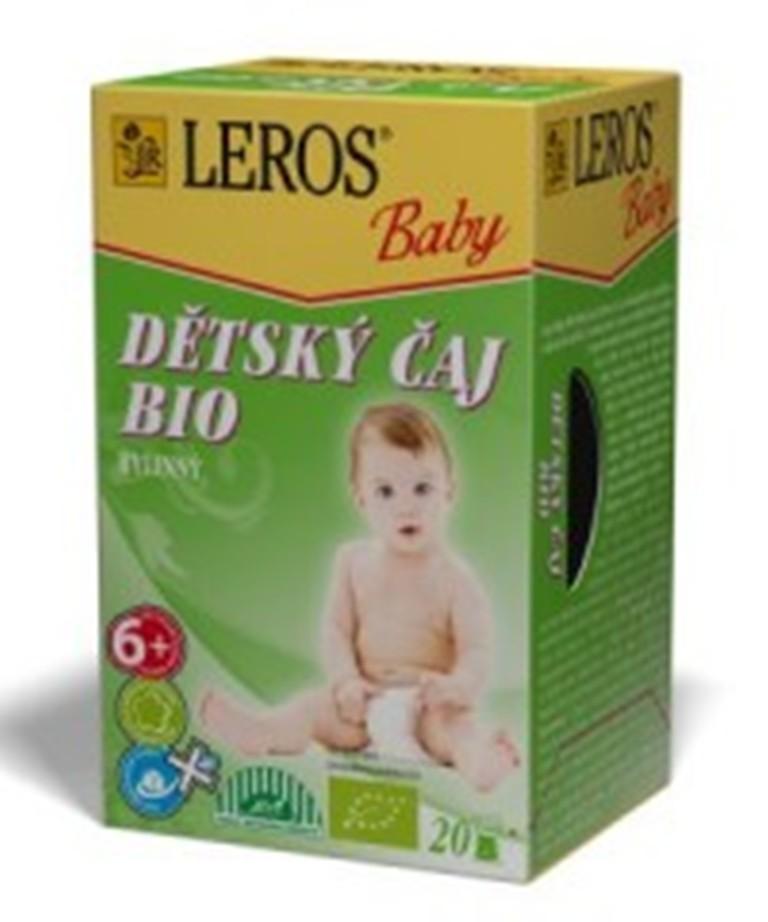 Fotografie Leros Baby Bio bylinný čaj pro děti 20 x 2 g