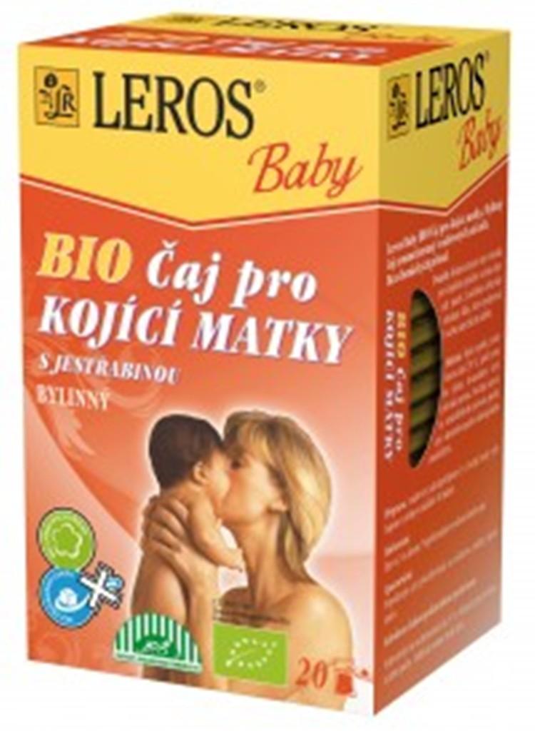 Fotografie Leros Baby Bio pro kojící matky bylinný čaj 20 x 2 g