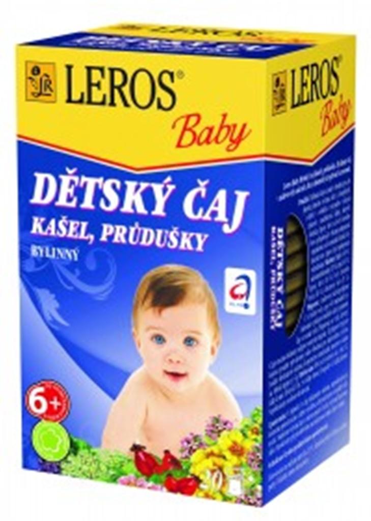 Fotografie Leros Baby Kašel, průdušky bylinný čaj pro děti 20 x 1,5 g