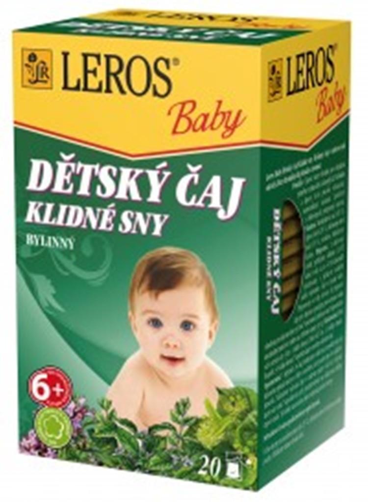 Fotografie Leros Baby Klidné sny bylinný čaj pro děti 20 x 1,5 g
