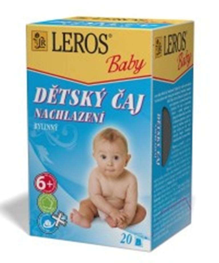 Fotografie Leros Baby Nachlazení bylinný čaj pro děti 20 x 2 g