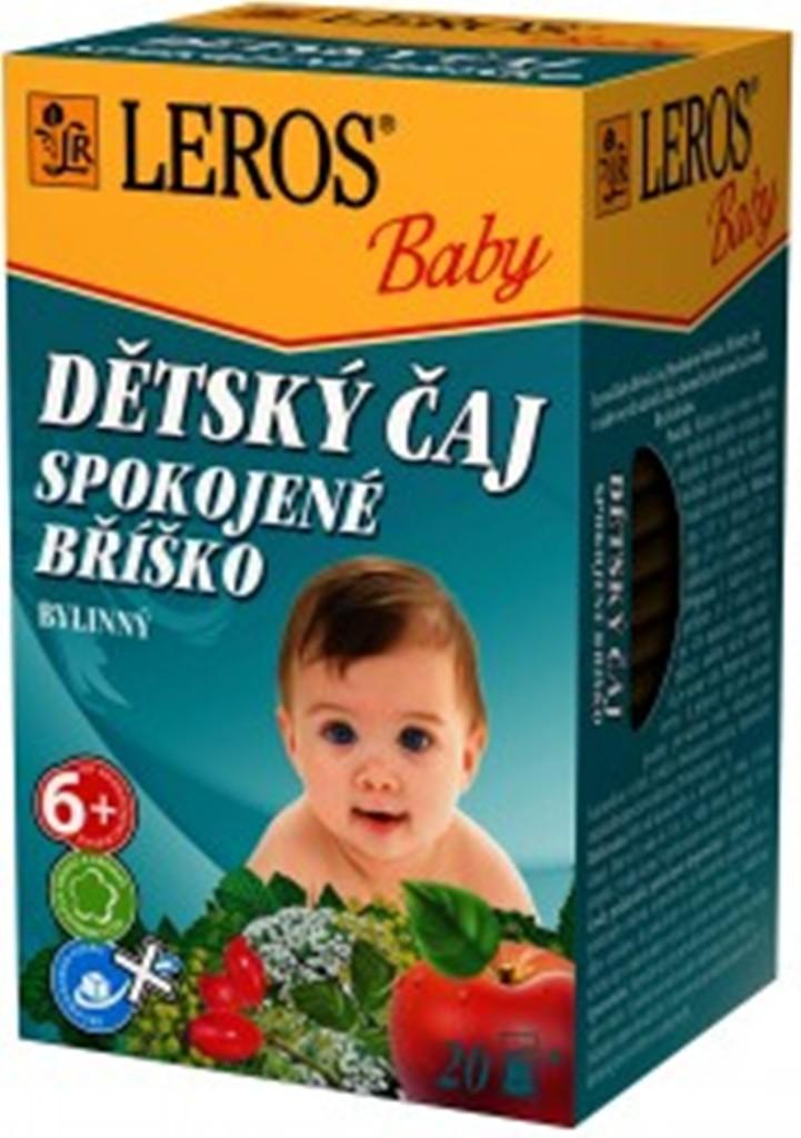 Fotografie Leros Baby Spokojené bříško bylinný čaj pro děti 20 x 2 g