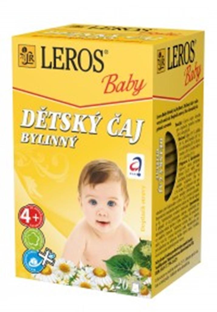 Fotografie Leros Baby Bylinný čaj pro děti 20 x 1,8 g