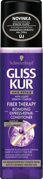 Fotografie Gliss Kur Fiber Therapy regenerační expres balzám pro namáhané vlasy 200 ml