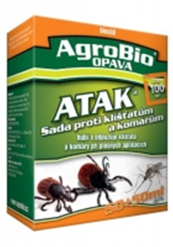 Fotografie AgroBio Atak Sada proti klíšťatům a komárům 50 + 50 ml
