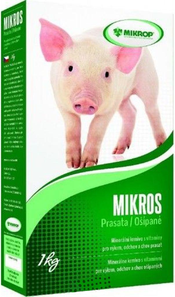 Mikros Prase doplňkové minerální krmivo s vitamíny pro výkrm, odchov a chov prasat 1 kg