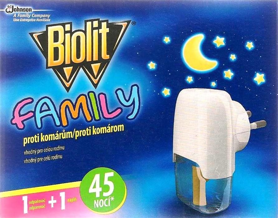Fotografie Biolit Family Elektrický odpařovač proti komárům 27 ml