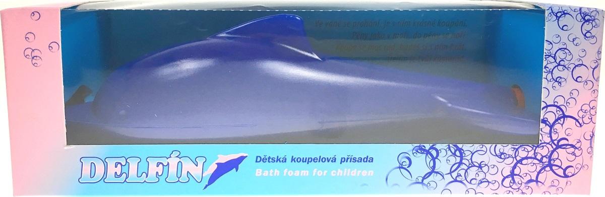 Fotografie Karlovarská kosmetika Delfín modrý Koupelová přísada pěna pro děti 200 ml
