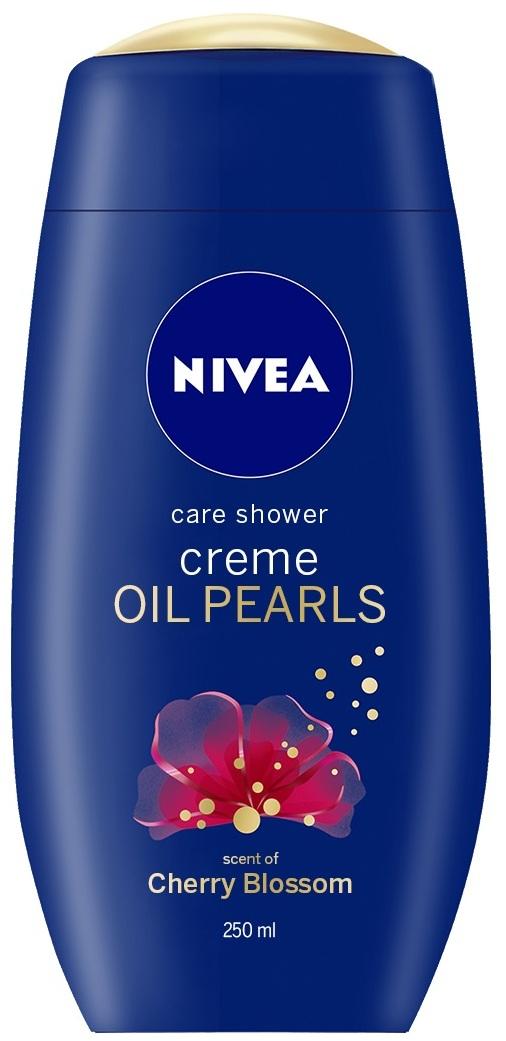 Nivea Creme Oil Pearls Cherry Blossom pečující sprchový gel 250 ml