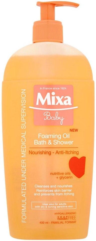 Mixa Baby Foaming Oil pěnivý olej do sprchy i do koupele 400 ml