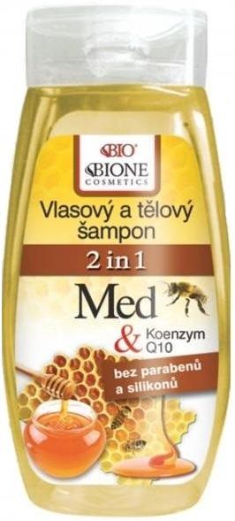 Fotografie Bione Cosmetics Med & Koenzym Q10 2v1 vlasový, tělový šampon 250 ml