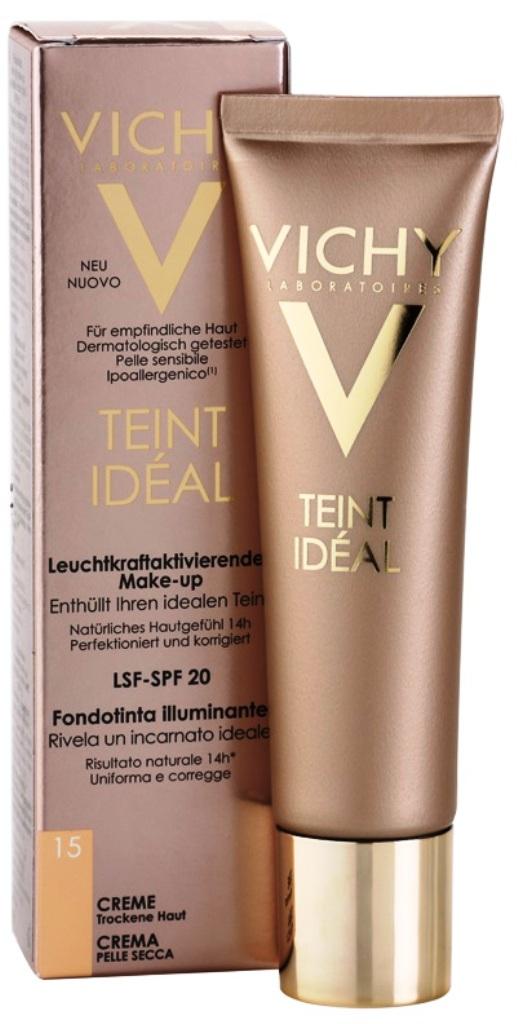 Vichy Teint Idéal Rozjasňující krémový make-up 15 Clair 30 ml