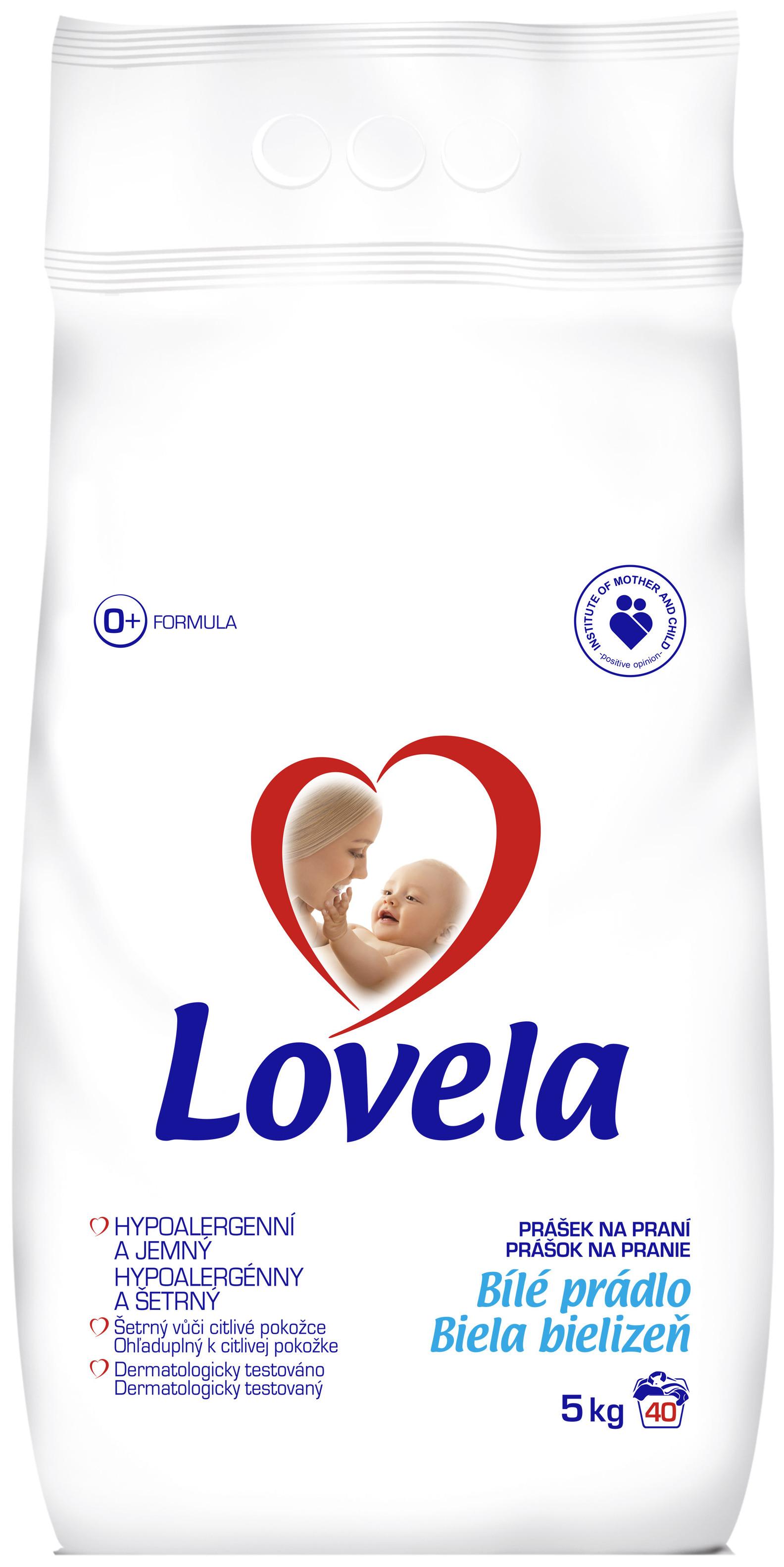 Lovela Bílé prádlo Hypoalergenní prací prášek 40 dávek 5 kg
