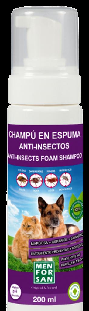 Fotografie Menforsan přírodní repelentní pěnový šampon pro psy a kočky 200 ml
