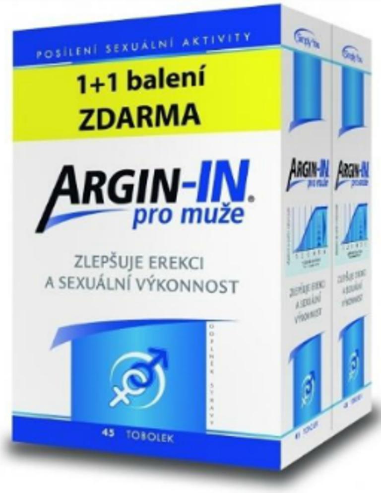 Fotografie Argin-IN zlepšují erekci a sexuální výkonnost pro muže 45 tobolek + Argin-IN 45 tobolek