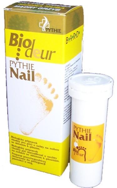 Fotografie Pythie Biodeur Nail Chytrá houba pro nohy se sklonem k plísním, zápachu a potivosti 3 x 3 g