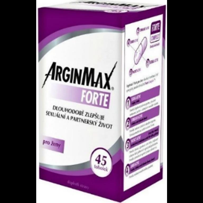 Fotografie ArginMax Forte pro ženy pro dosažení a udržení erekce a zvýšení sexuální výkonnosti tobolky 45 kusů