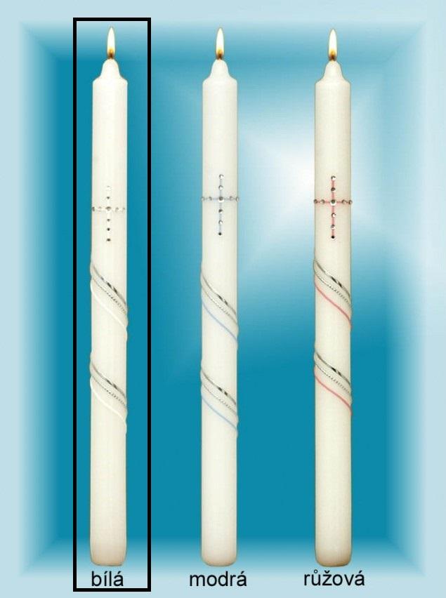 Lima Kostelní křestní - Sv.Přijímání svíčka se zirkony bílá 25 x 360 mm 1 kus