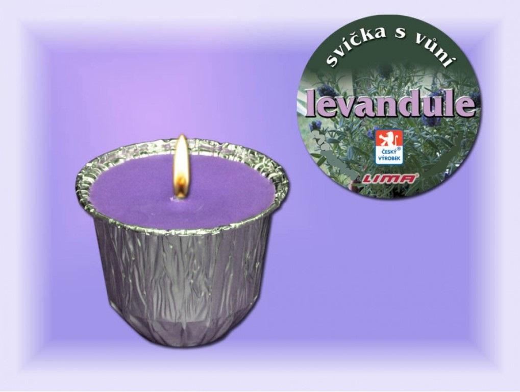 Fotografie Lima Ozona Levandule vonná svíčka 115 g