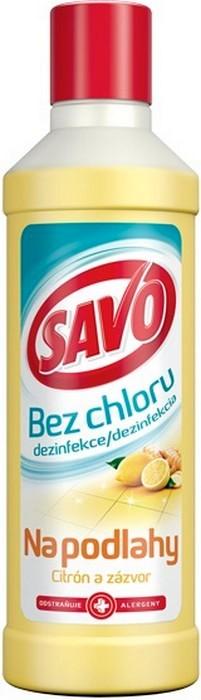 Fotografie Savo Citrón a zázvor bez chloru tekutý čistící a dezinfekční přípravek na podlahy 1 l