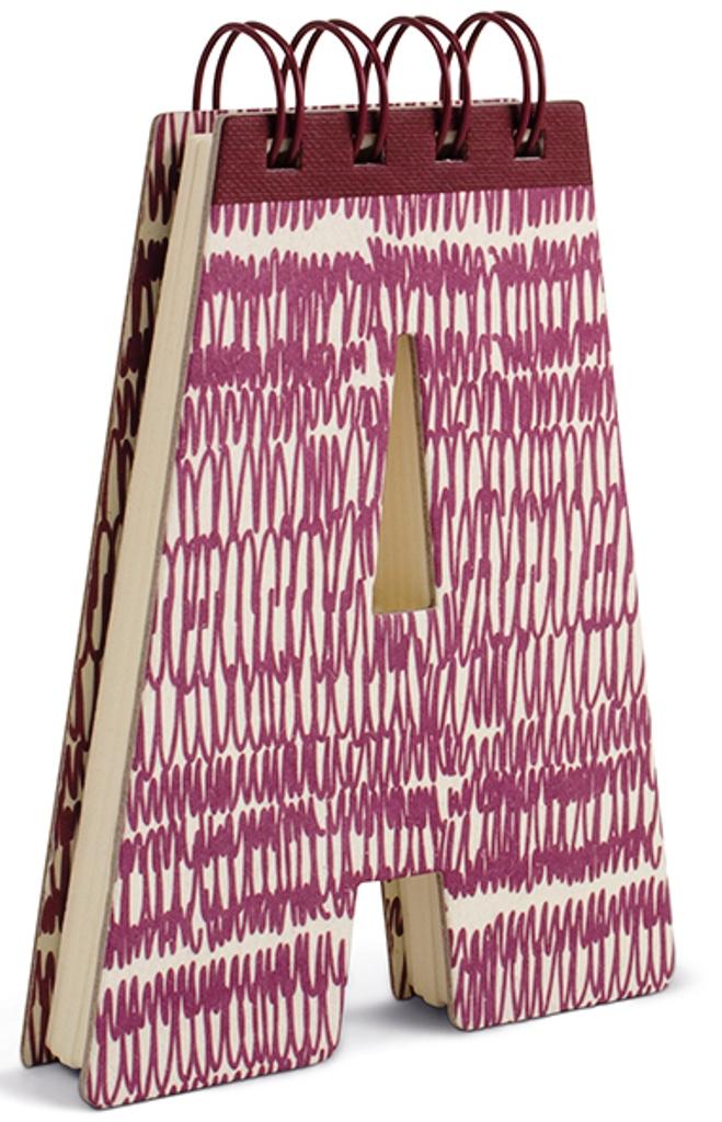 Fotografie If Alphabooks Note Books Zápisník ve tvaru písmena A 91 x 14 x 124 mm