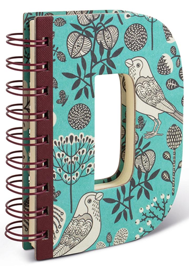 Fotografie If Alphabooks Note Books Zápisník ve tvaru písmena D 91 x 14 x 124 mm