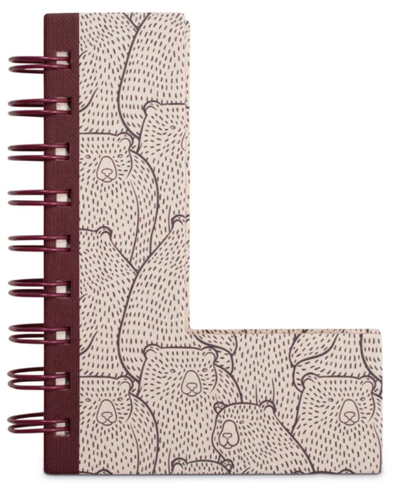 Fotografie If Alphabooks Note Books Zápisník ve tvaru písmena L 91 x 14 x 124 mm