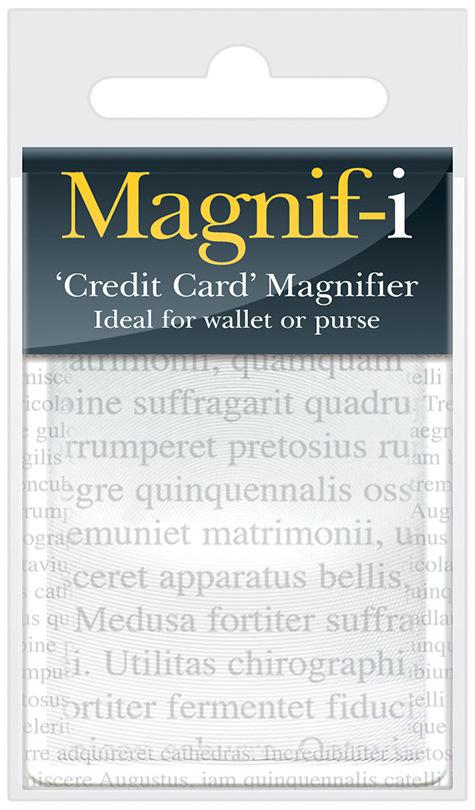 If Magnifier Credit Card size Lupa kreditní karta 10,6 x 6 x 0,2 cm