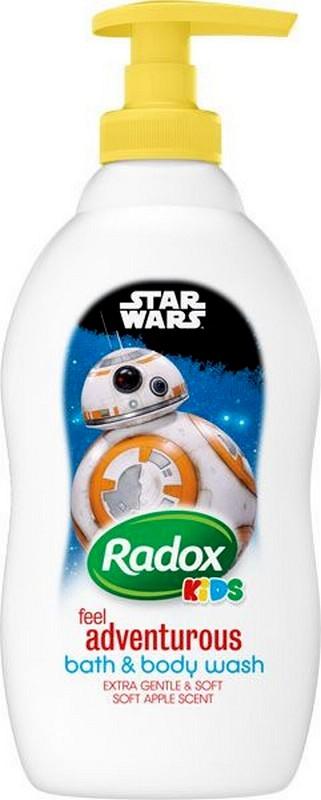 Fotografie Radox Kids Star Wars sprchový gel a pěna pro děti dávkovač 400 ml