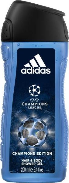 Adidas UEFA Champions League Champions Edition 2v1 sprchový gel a šampon pro muže 250 ml