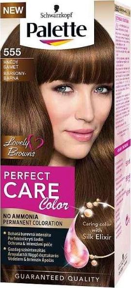 Fotografie Schwarzkopf Palette Perfect Color Care barva na vlasy 555 Hnědý samet