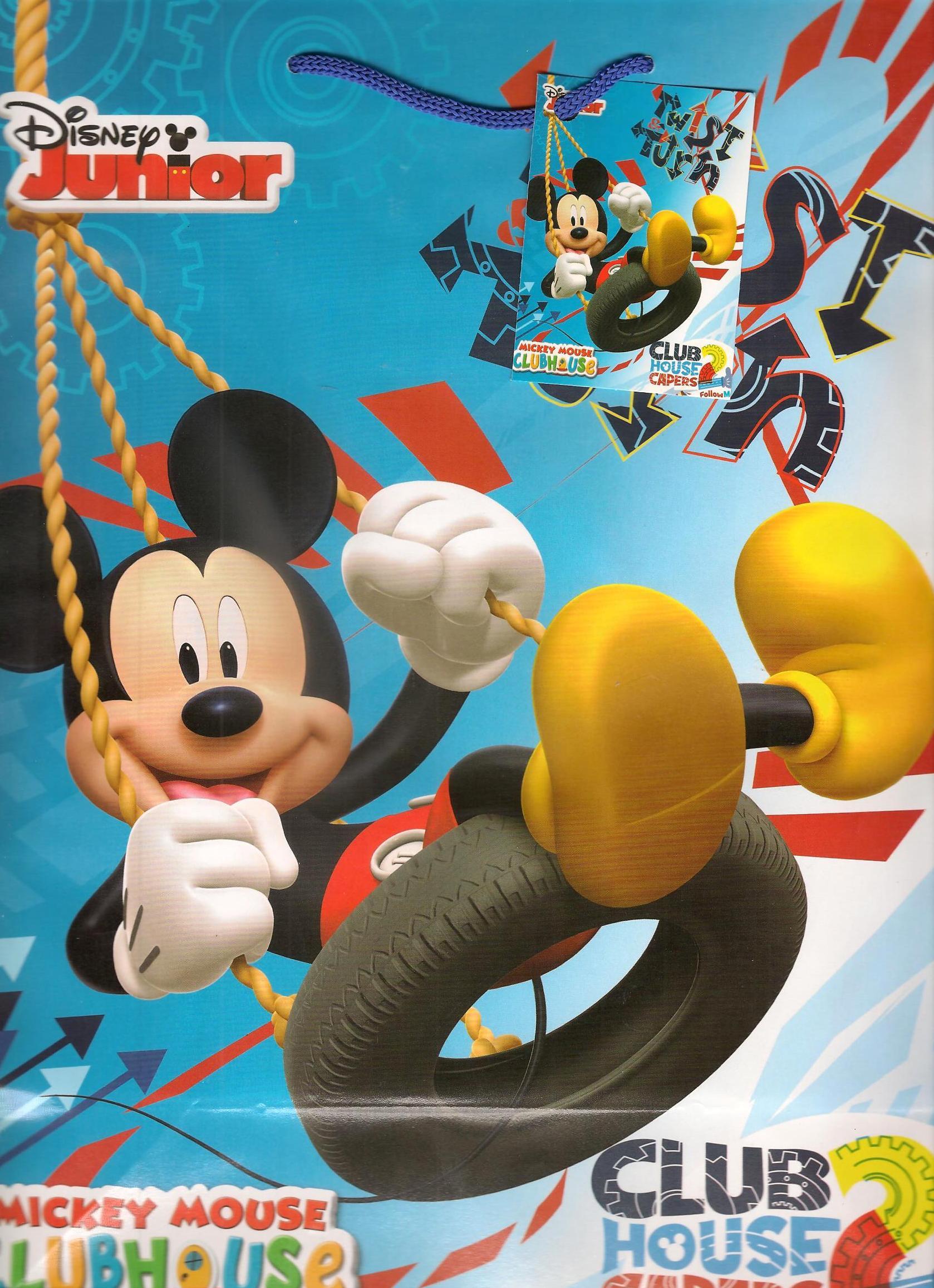 Ditipo Disney Dárková papírová taška dětská L Mickey Mouse Twist Turn 26 x 13,7 x 32,4 cm 2902 009