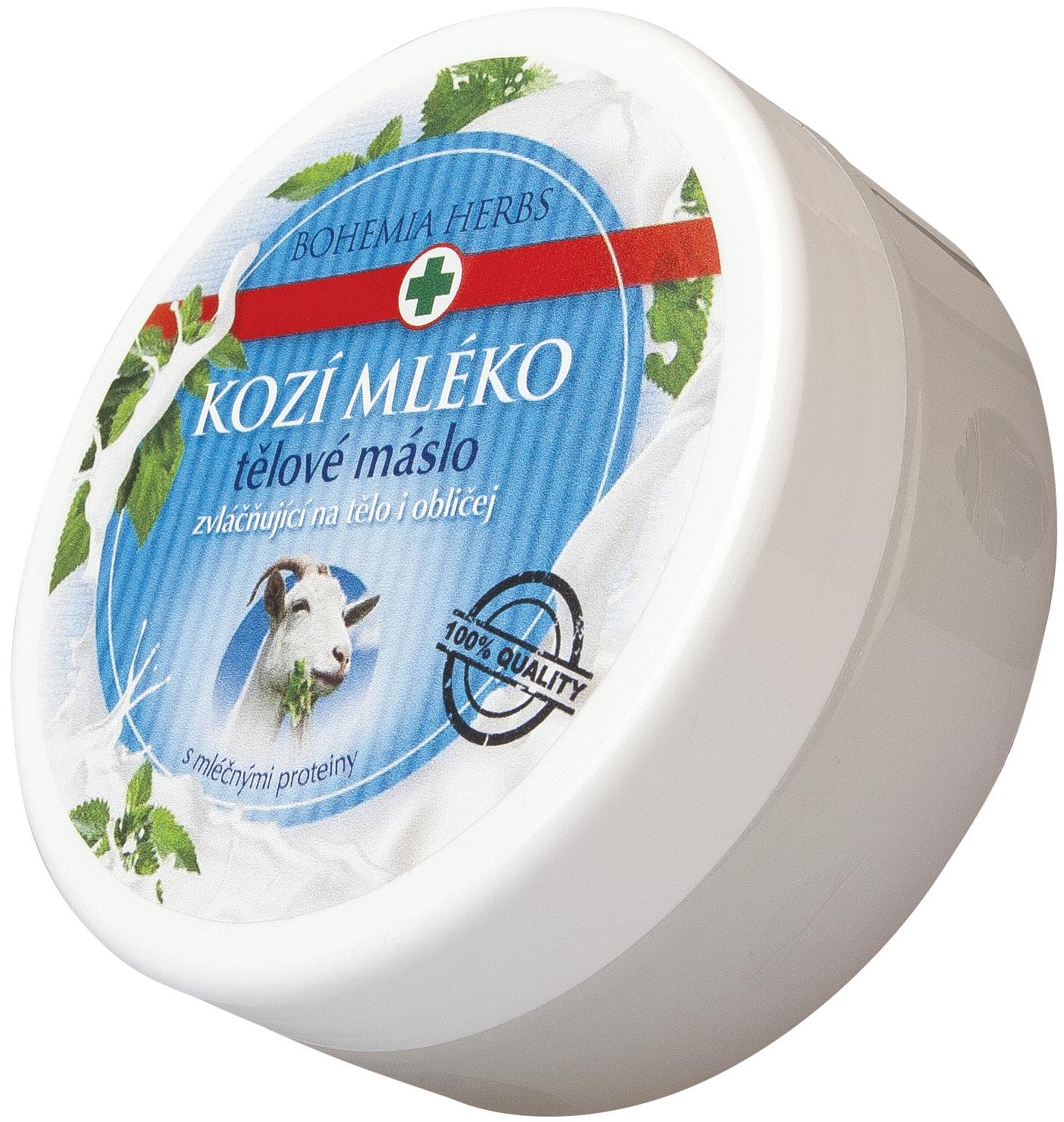 Bohemia Gifts & Cosmetics Med a Kozí mléko tělové máslo 200 ml