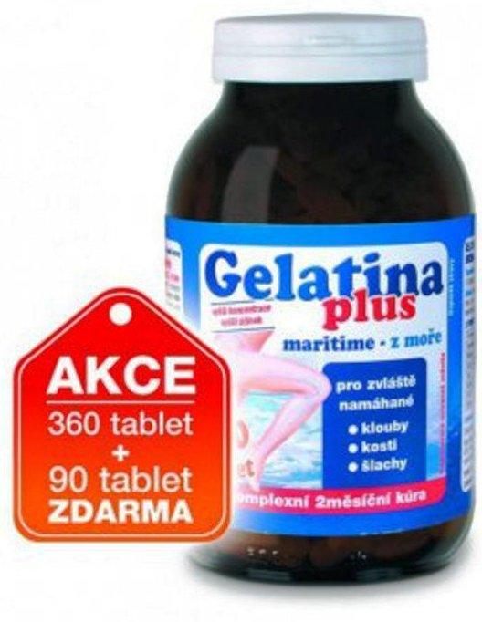 Fotografie Anton Hübner Gelatina Plus Maritime tablety kolagenní výživa 360 + 90 kusů