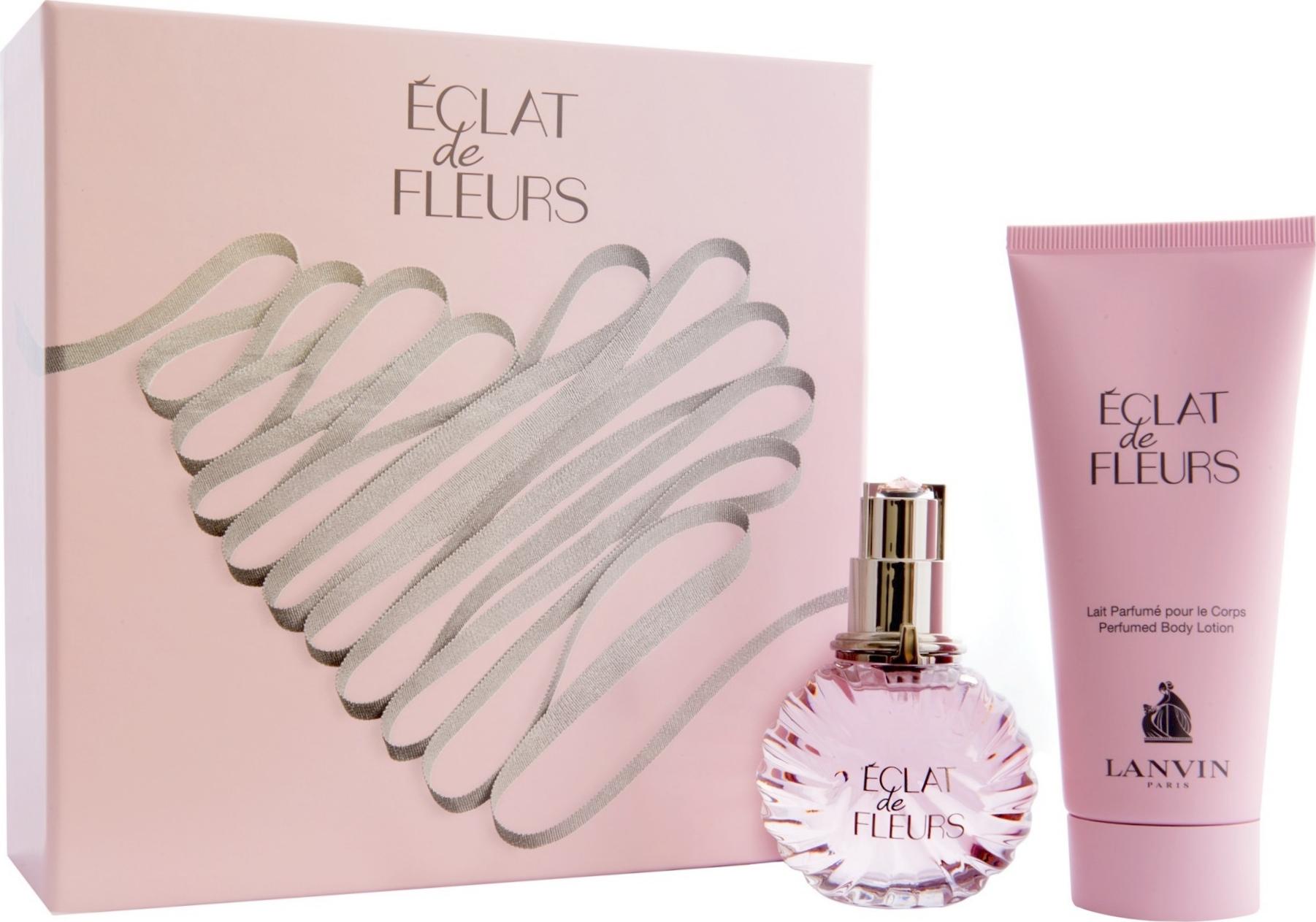 Lanvin Eclat de Fleurs parfémovaná voda pro ženy 50 ml + tělové mléko 100 ml, dárková sada