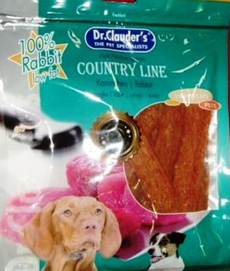 Dr. Clauders Country Line Králík plátky sušeného masa pro psa 170 g