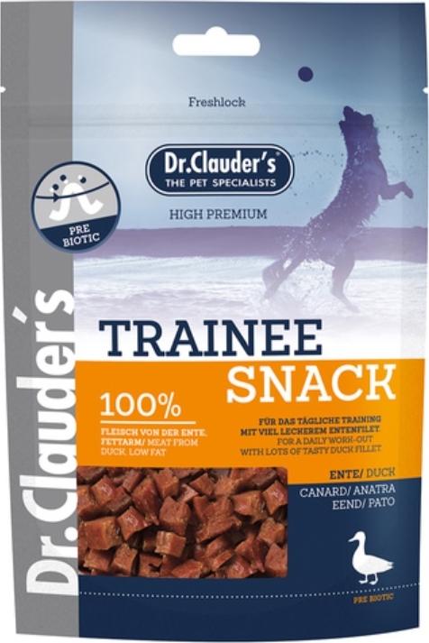Fotografie Dr. Clauders Trainee Snack Kachní sušené kostičky doplňkové krmivo pro psy 80 g 10 ks