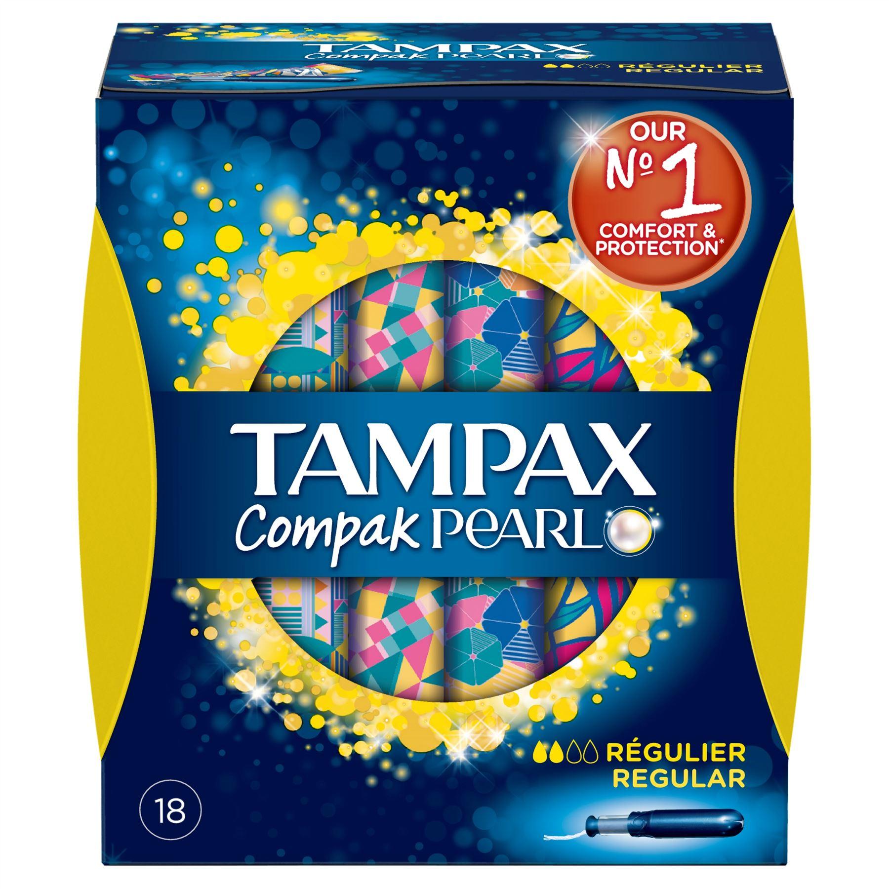 Fotografie Tampax Compak Pearl Regular dámské tampony 18 kusů