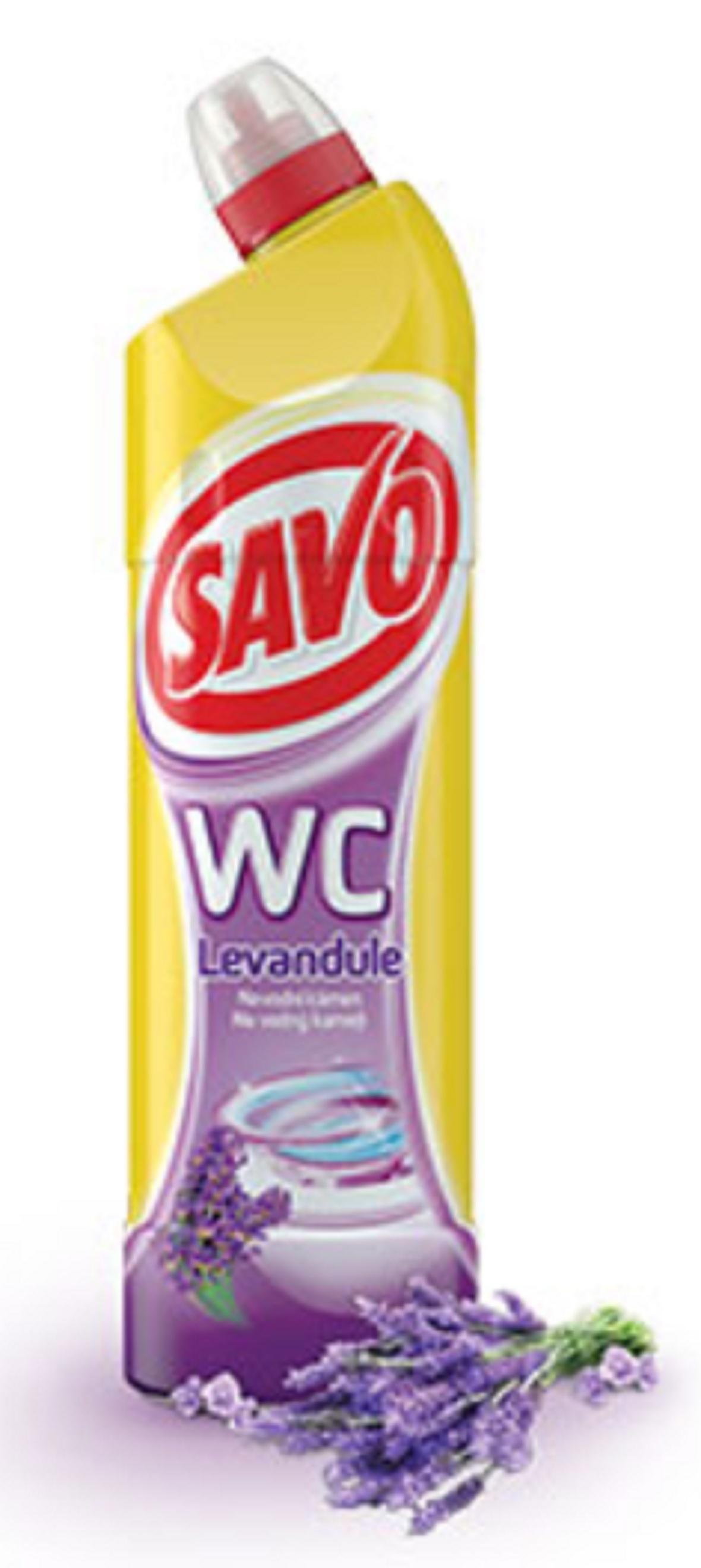 Fotografie Savo Levandule WC gel čisticí přípravek na toalety 750 ml