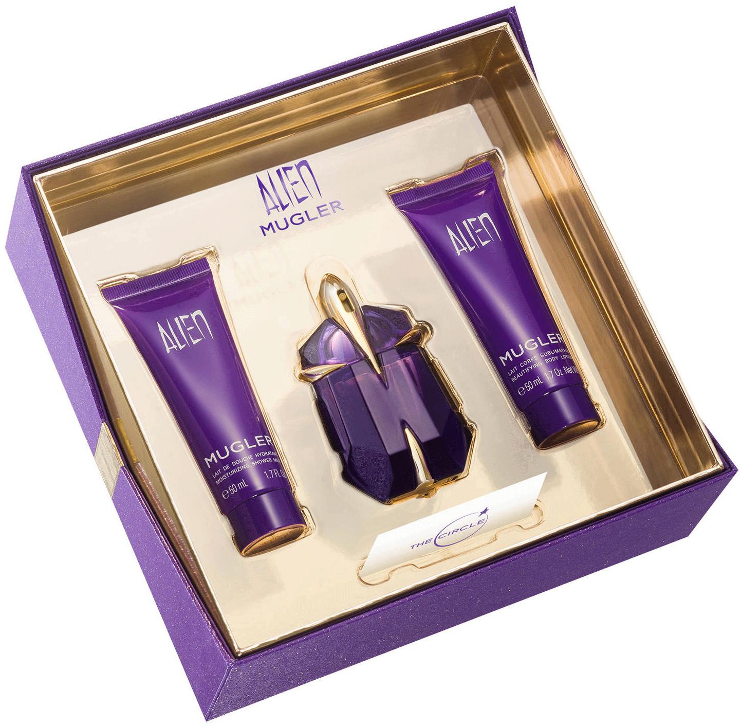 Thierry Mugler Alien parfémovaná voda plnitelný flakon pro ženy 30 ml + tělové mléko 50 ml + sprchový gel 50 ml