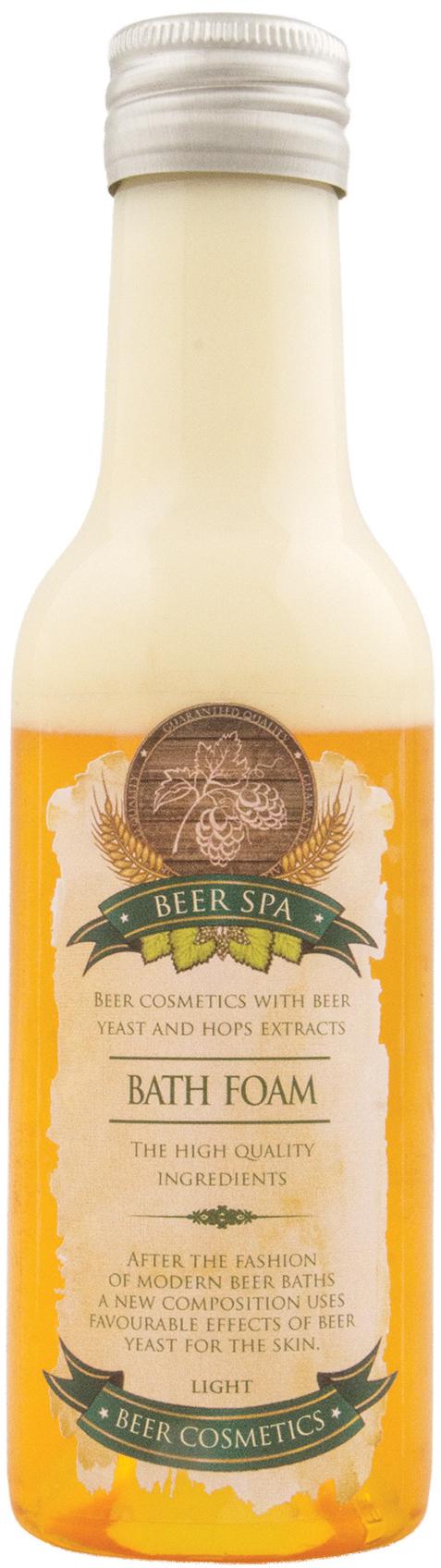Fotografie Bohemia Gifts & Cosmetics Beer Spa Premium Pivní pěna do koupele světlá 200 ml