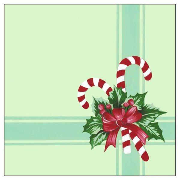 Fotografie Forest Vánoční papírové ubrousky Zelené s červenou mašlí 1 vrstvé 33 x 33 cm 20 kusů