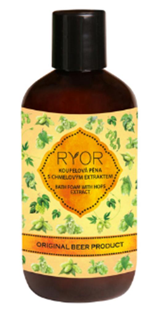 Fotografie Ryor Pivní kosmetika koupelová pěna s chmelovým extraktem 250 ml